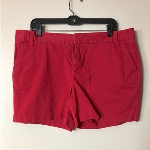 Caston Red Flat Front Summer Stretch Shorts Sz 14